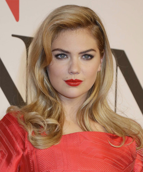 Kate Upton Long Straight Formal   Hairstyle   - Medium Blonde (Honey)