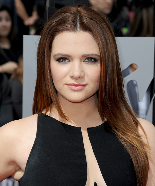 Katie Stevens Long Straight Casual   Hairstyle   - Medium Brunette