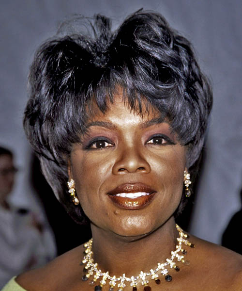 Oprah Winfrey Short Straight Formal Hairstyle