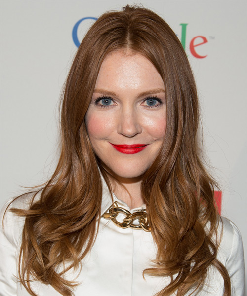 Darby Stanchfield Long Straight    Brunette   Hairstyle
