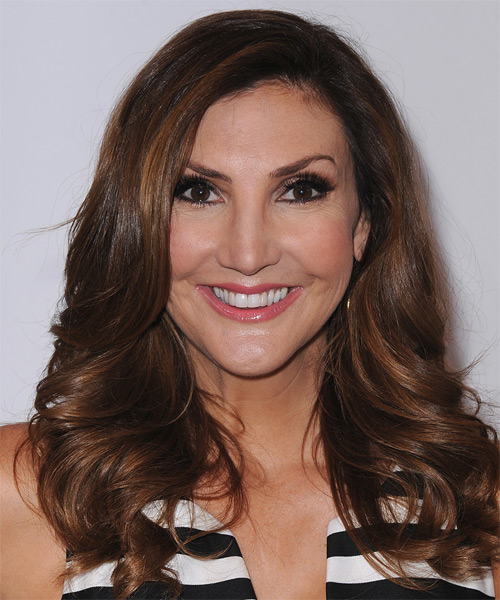 Heather McDonald Long Wavy Formal   Hairstyle   - Dark Brunette