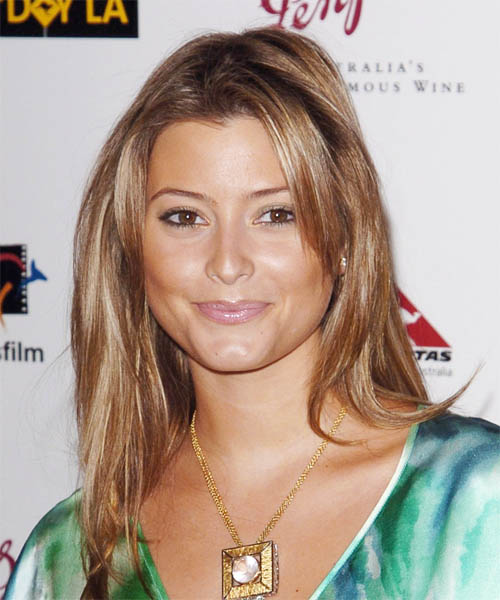 Holly Valance Long Straight Casual   Hairstyle