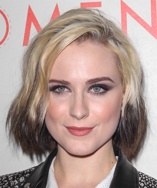 Evan Rachel Wood Medium Straight Casual   Hairstyle   - Light Blonde