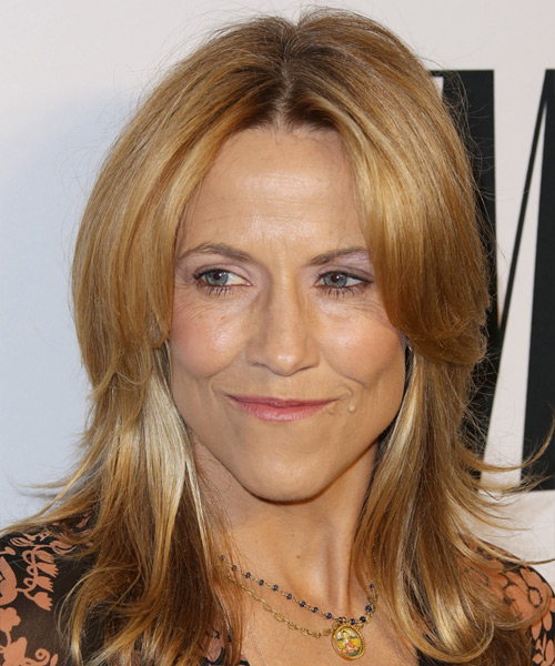 Sheryl Crow Medium Straight Casual   Hairstyle   - Dark Blonde (Copper)