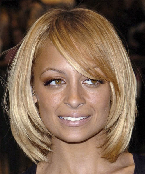 Nicole Richie Medium Straight Casual   Hairstyle