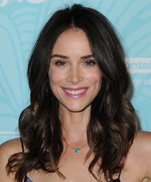 Abigail Spencer Long Wavy Formal    Hairstyle   - Dark Brunette Hair Color