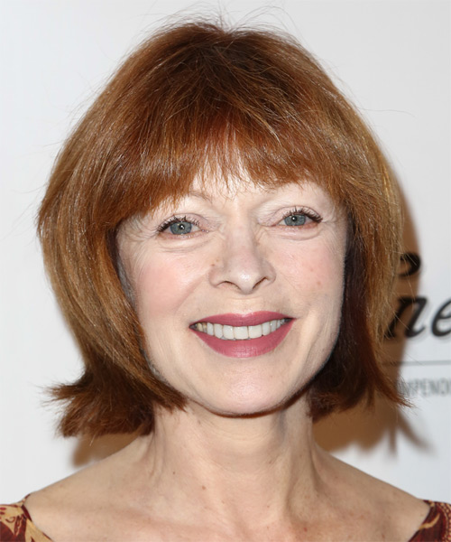 Frances Fisher Short Straight Casual   Hairstyle   - Medium Red (Copper)