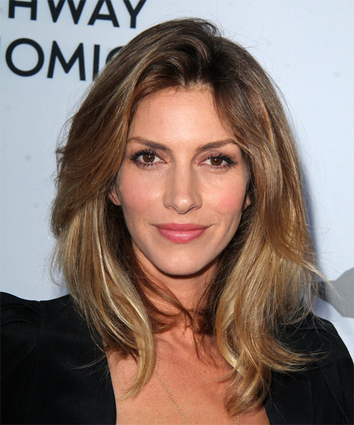 Dawn Olivieri Medium Straight Casual   Hairstyle   - Dark Blonde