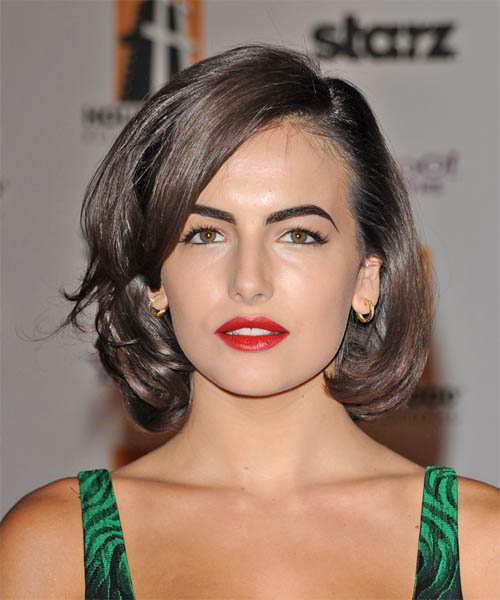 Camilla Belle Medium Wavy Formal    Hairstyle