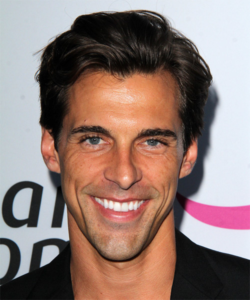 Madison Hildebrand Short Straight Casual    Hairstyle   - Dark Brunette Hair Color
