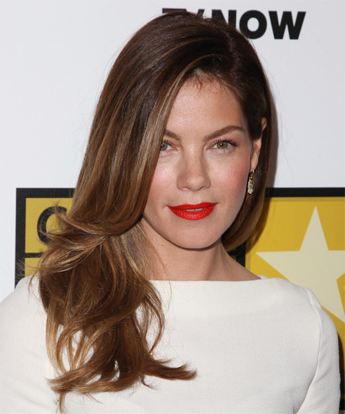 Michelle Monaghan Long Straight Formal   Hairstyle   - Medium Brunette