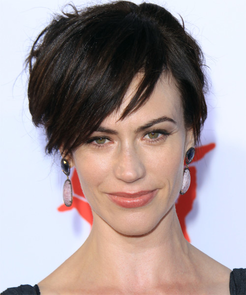 Maggie Siff Short Straight Casual    Hairstyle   - Dark Brunette Hair Color