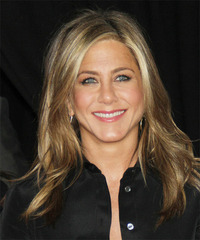 Jennifer Aniston Long Straight Casual    Hairstyle   - Dark Blonde Hair Color