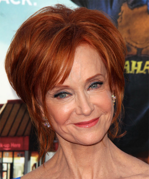 layered medium haircuts swoosie kurtz formal hairstyle hair color 9659