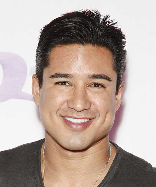Mario Lopez Short Straight Formal   Hairstyle   - Black