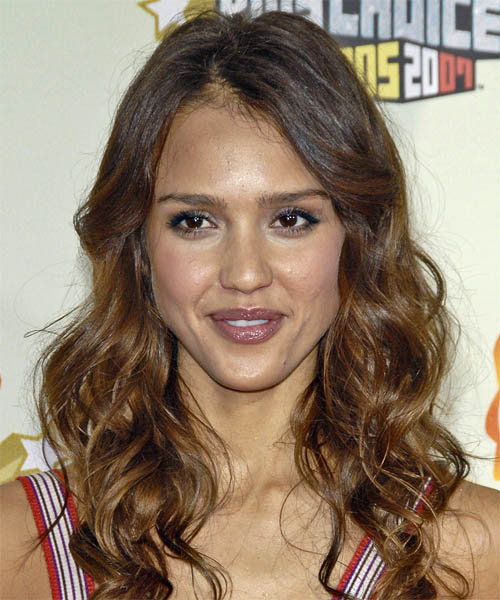 Jessica Alba Long Wavy Casual   Hairstyle
