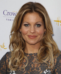 Candace Cameron Bure Long Wavy Casual    Hairstyle   - Dark Blonde Hair Color with Light Blonde Highlights