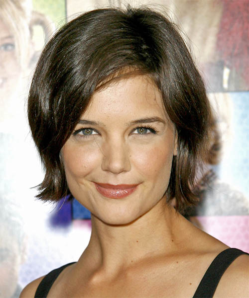 Katie Holmes Short Straight Casual    Hairstyle   - Medium Ash Brunette Hair Color