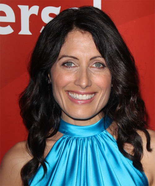 Lisa Edelstein Long Wavy Casual   Hairstyle   - Black