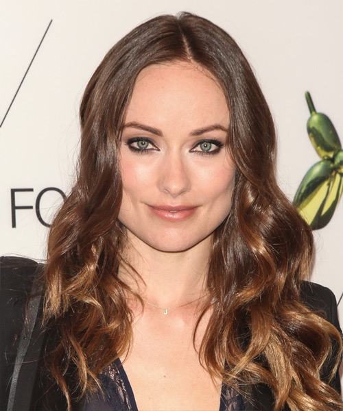 Olivia Wilde Long Wavy    Brunette   Hairstyle