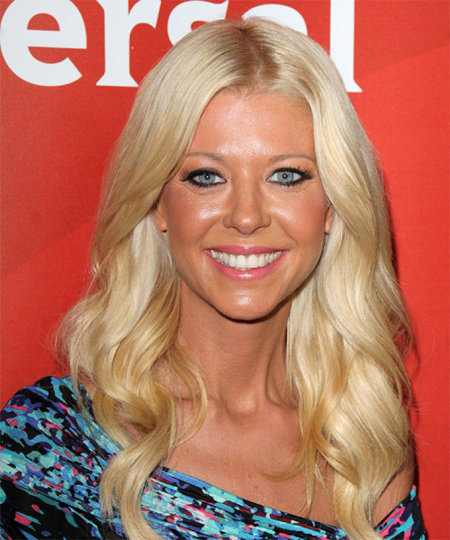Tara Reid Long Wavy Formal    Hairstyle   - Light Golden Blonde Hair Color