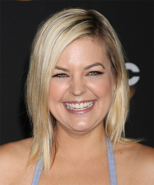 Kirsten Storms Medium Straight Casual   Hairstyle   - Light Blonde