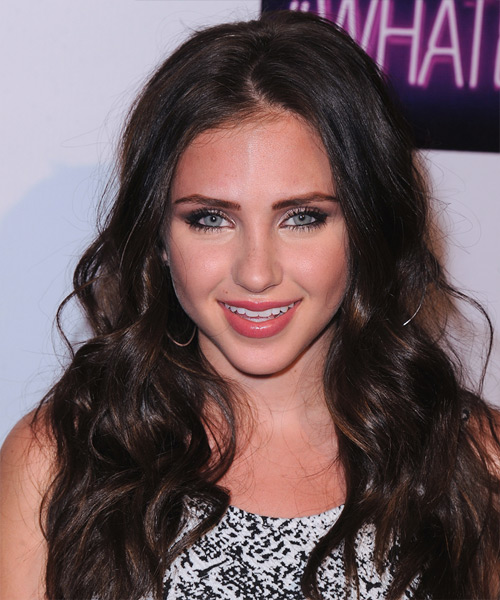 Ryan Newman Long Wavy Casual   Hairstyle   - Dark Brunette (Mocha)