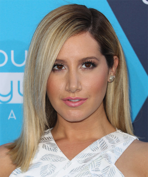 Ashley Tisdale Medium Straight Formal   Hairstyle   - Light Blonde