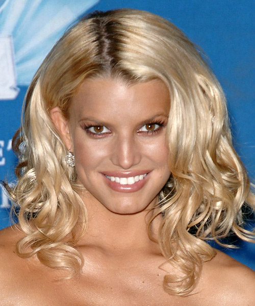 Jessica Simpson Long Wavy Formal   Hairstyle