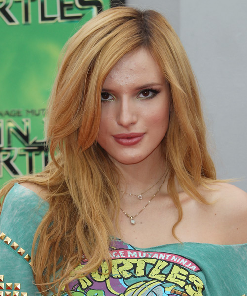 Bella Thorne Long Straight Casual    Hairstyle   -  Copper Red Hair Color