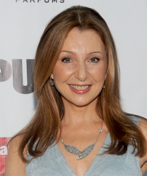 Donna Murphy Long Straight Formal   Hairstyle   - Medium Brunette