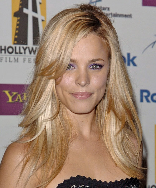 Rachel McAdams Long Straight Formal   Hairstyle with Side Swept Bangs