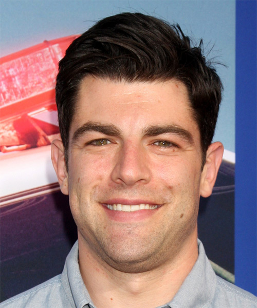 Max Greenfield Short Straight Formal    Hairstyle   - Dark Brunette Hair Color