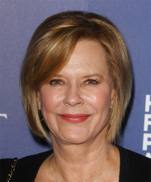 JoBeth Williams Short Straight Casual   Hairstyle with Side Swept Bangs  - Dark Blonde