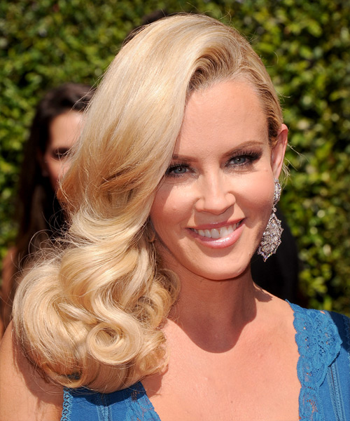 Jenny McCarthy Long Wavy Formal   Hairstyle   (Honey)