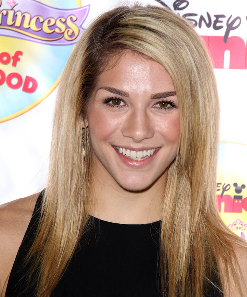 Allison Holker Long Straight    Blonde   Hairstyle