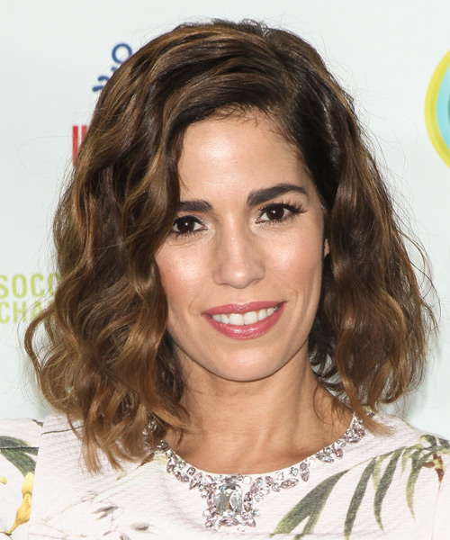 Ana Ortiz Medium Wavy    Brunette   Hairstyle