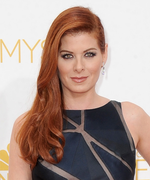 Debra Messing Long Straight Formal    Hairstyle   -  Strawberry Red Hair Color