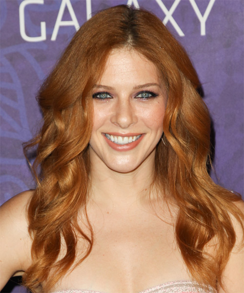 Rachelle Lefevre Long Wavy Casual   Hairstyle   - Light Red (Ginger)