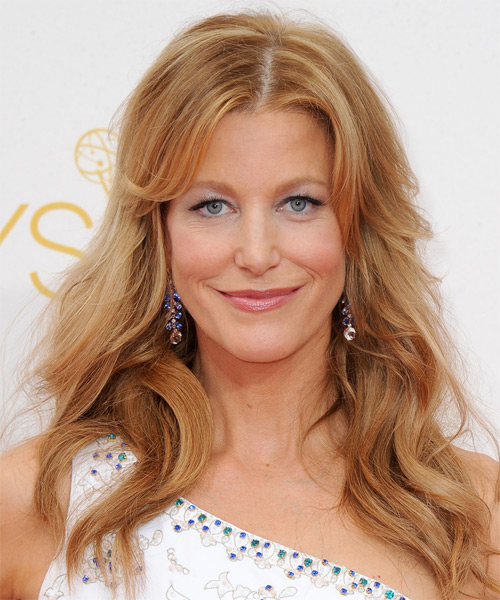 Anna Gunn Long Wavy Casual   Hairstyle   - Dark Blonde (Copper)