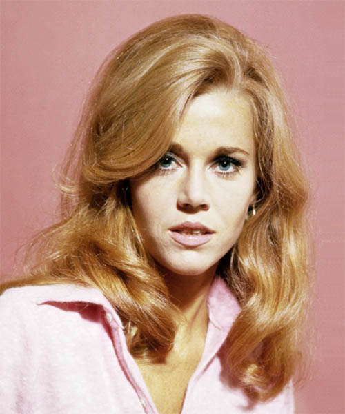Jane Fonda Long Wavy Formal    Hairstyle