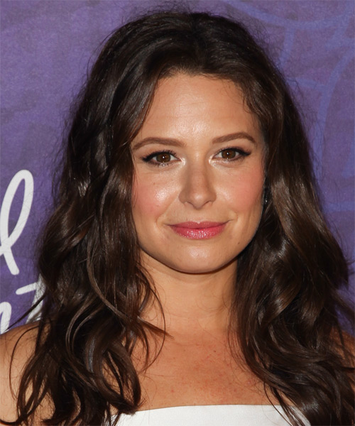 Katie Lowes Long Wavy Casual   Hairstyle   - Dark Brunette (Mocha)
