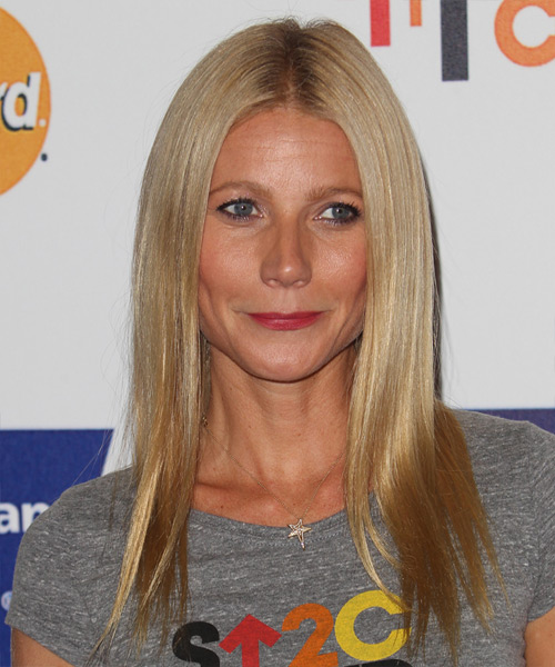 Gwyneth Paltrow Long Straight Formal   Hairstyle   - Dark Blonde (Honey)