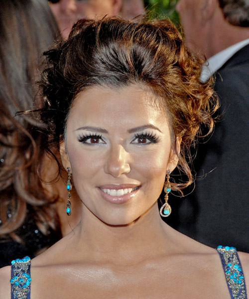 Eva Longoria Parker Updo Long Curly Formal Wedding Updo Hairstyle