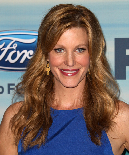 Anna Gunn Long Straight    Copper Brunette   Hairstyle