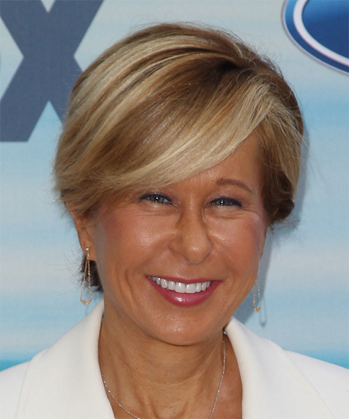 Yeardley Smith Short Straight   Light Brunette   Hairstyle   with Dark Blonde Highlights