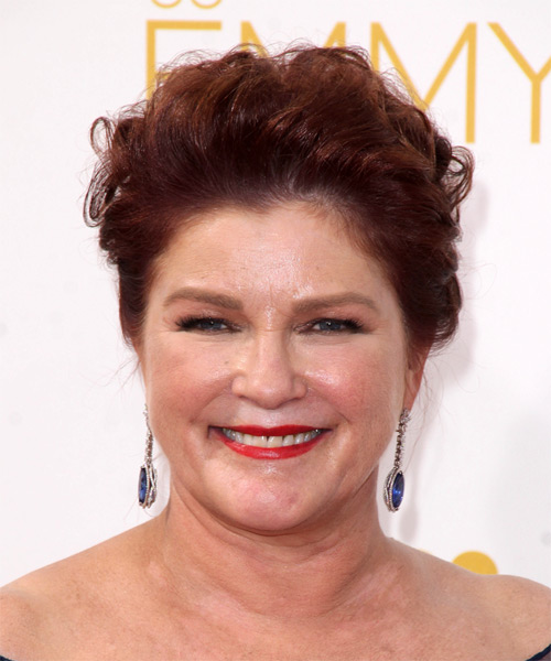 Kate Mulgrew Short Straight Formal   Hairstyle   - Dark Red