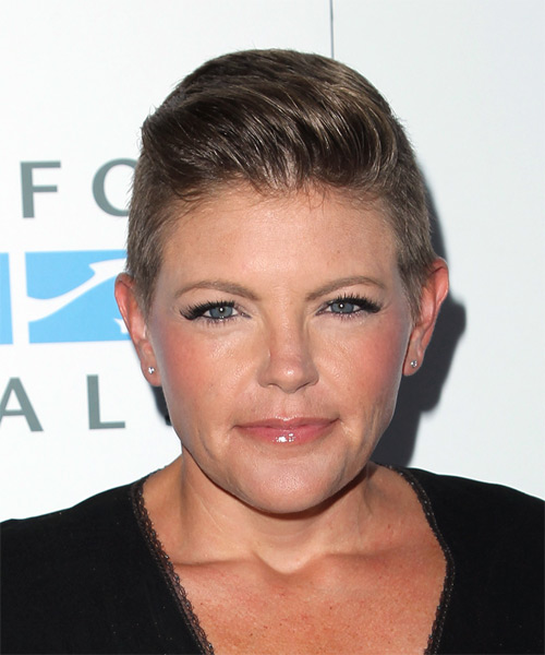 Natalie Maines Short Straight Formal   Hairstyle   - Medium Brunette (Ash)