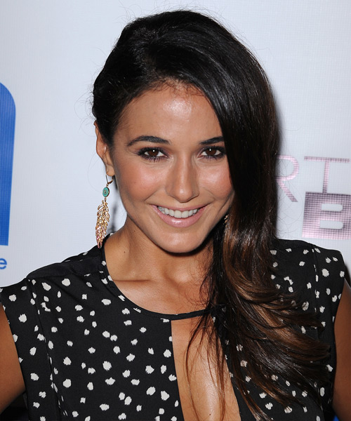 Emmanuelle Chriqui Long Straight Formal   Hairstyle   - Dark Brunette
