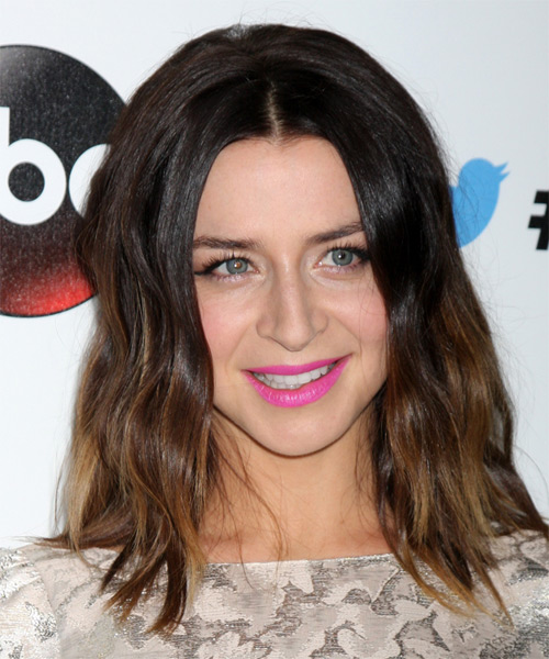 Caterina Scorsone Medium Straight Casual   Hairstyle   - Dark Brunette